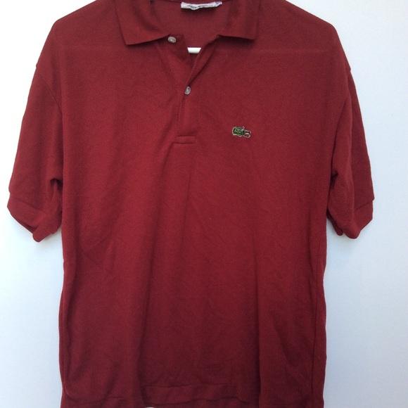 418dadca09bab VINTAGE Men's Lacoste Chemise Maroon Polo shirt